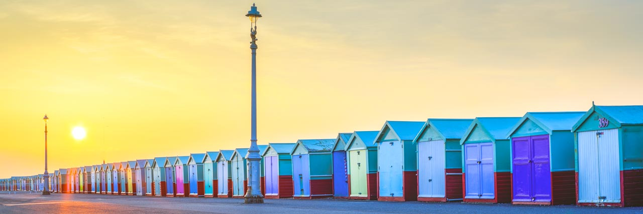 Brighton & Hove Beach Huts Panoramic Photo | Brighton Photography