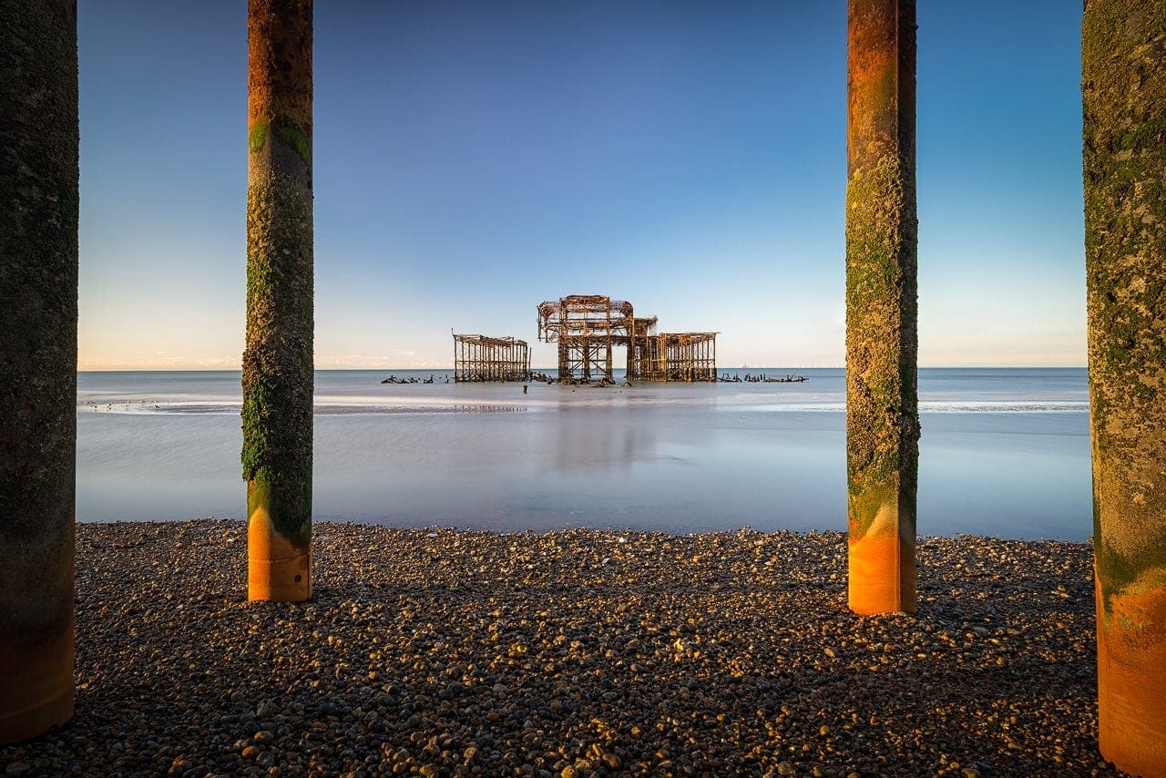 Photo of rusted West Pier Brighton