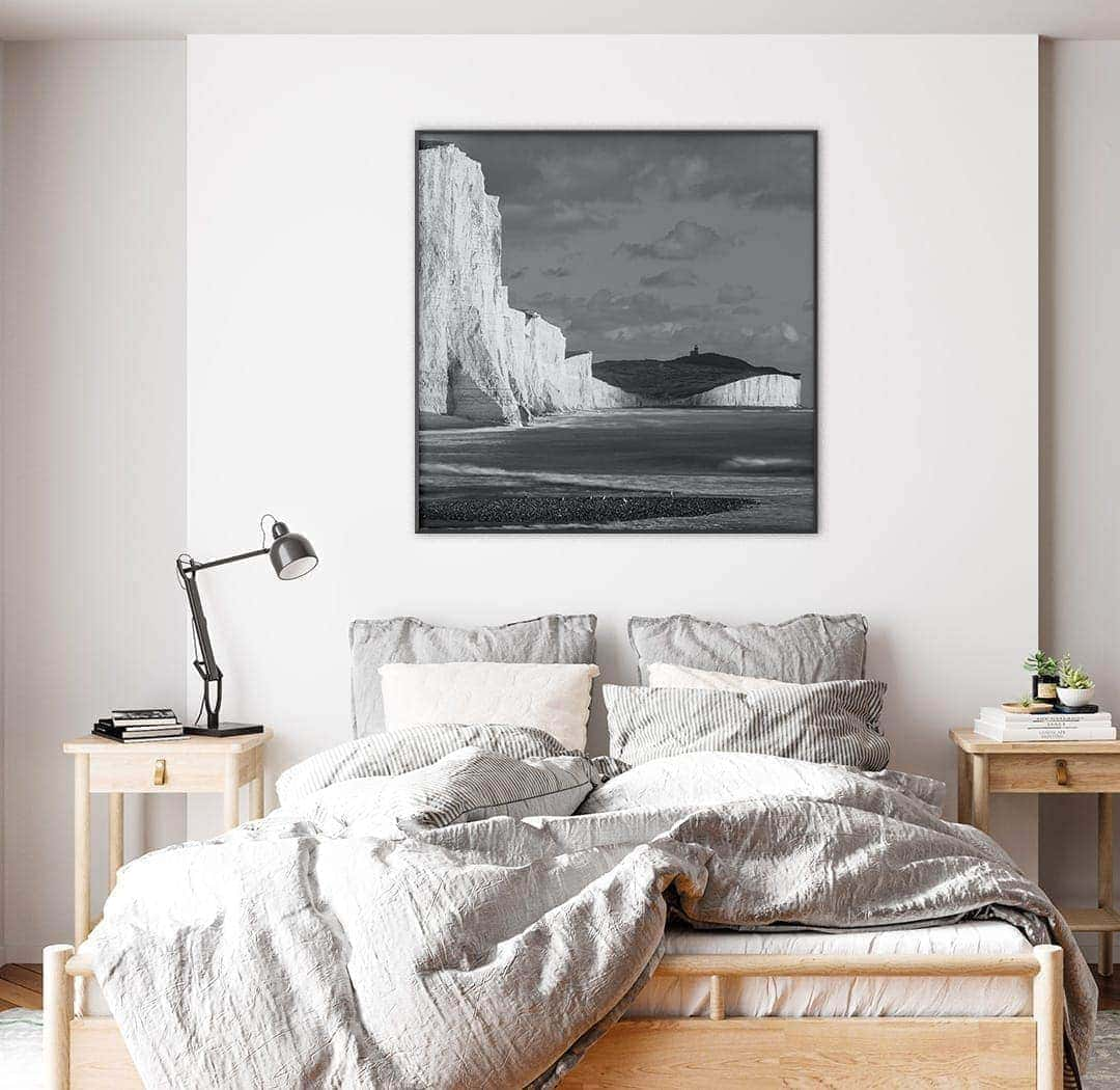 Black & White Seven Sisters Photo on bedroom wall