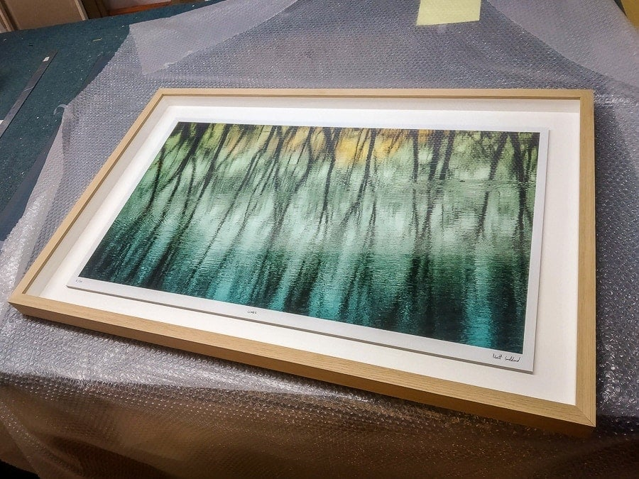 Framing example in oak